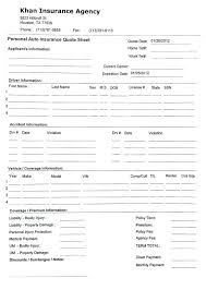 quote form pdf car insurance template with insurance quote sheet template and auto insurance quote form