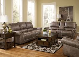 Ashley Living Room Furniture Oberson Gunsmoke Reclining Living Room Set From Ashley 74100