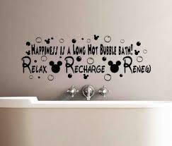 quote about bubble bath happiness is a long bubble bath disney sign relax recharge