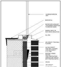 Window Sill Detail Cad Air Barrier Application Details Cad Details W R Meadows