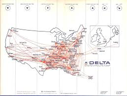 Piedmont Airlines Route Map by Airline Timetables April 2008