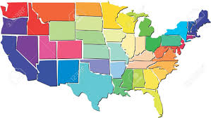 Usa Map Vector by Colorful Usa Map Royalty Free Cliparts Vectors And Stock