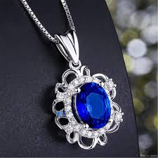 sapphire jewelry necklace images Wholesale sapphire jewelry 925 sterling silver pendant necklace jpg