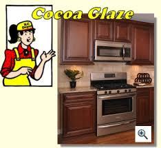 Cherry Glaze Cabinets Cocoa Glaze Kitchen Cabinet Depot