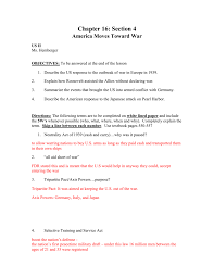 chapter 16 section 4 america moves toward war