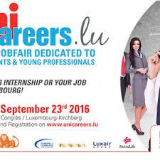 unicareers lu the unique recruitment fair of the of unicareers lu find your or your futur internship in