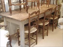kitchen farmhouse table with bench round farmhouse table diy