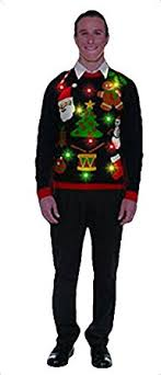 mens light up ugly christmas sweater forum novelties men s plus size everything christmas lite up sweater