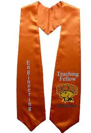 graduation stole umbc engineers orange graduation stole sashes as low as 9 99