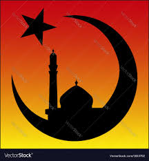 symbols of halloween symbol of islam and mosque ramadan royalty free vector image