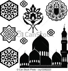 vector illustration of islamic ornaments vector set of islamic