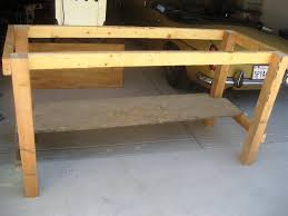 Woodworking Plans For Free Workbench by Cool Garage Workbench Ideas And Plans Best House Design