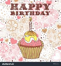 birthday cake card stock vector 55893877 shutterstock