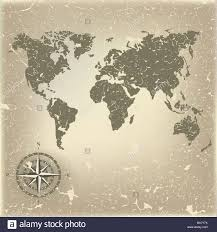Map With Compass Abstract Background With Old Map And Compass Stock Photo Royalty