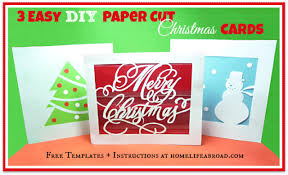 3 easy diy paper cut christmas cards home life abroad
