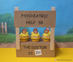 brown birthday party s psychiatric booth diy brown cupcakes the