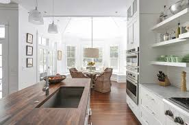 Contemporary Pendant Lighting For Kitchen Charleston Ash Wood Home Kitchen Beach Style With Open Shelves