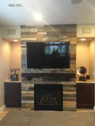 Wood Wall Living Room Easy Install Pallet Wood Wall Sustainable Lumber Company