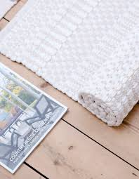 White Rug Pastel Mix Scandinavian Rag Rug And Hallway Runner From Skandihome