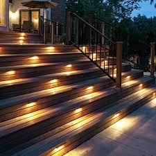 deck stairs lighting