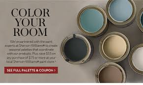 pottery barn color your room with our sherwin williams palette