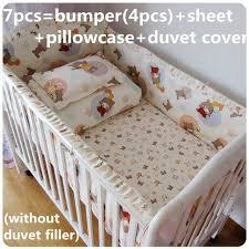 Crib Bedding Sets Unisex Promotion 6 7pcs Cot Baby Bedding Set Unisex 100 Cotton Baby