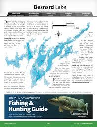 Map Of Saskatchewan Besnard Lake Angler U0027s Atlas