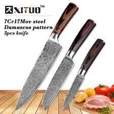 handmade japanese kitchen knives damascus chef knife custom manufactured ebay