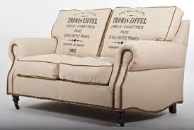 sofa stoffe kaufen vintage stoff design zweisitzer sofa eiffel leder antik ebay