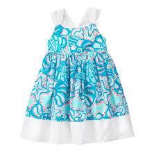 toddler turquoise sea sea print dress by gymboree