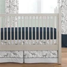 navy and gray woodland crib bedding carousel designs