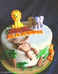 jungle theme cake pink cake small jungle theme cake