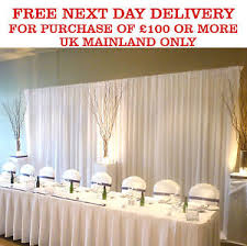 wedding backdrop uk white silk wedding backdrop party overlay economy stage drape