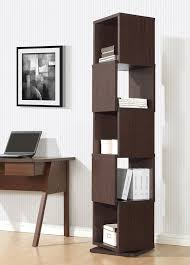 Dark Bookcase Amazon Com Baxton Studio Ogden 5 Level Rotating Modern Bookshelf
