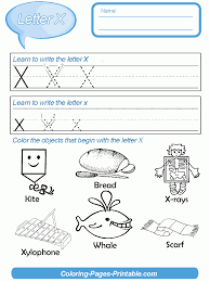 preschool letter writing worksheets with coloring pages