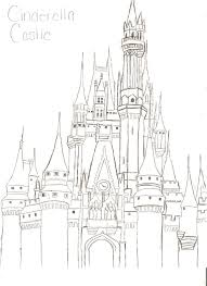 drawn castle disneyland castle pencil and in color drawn castle
