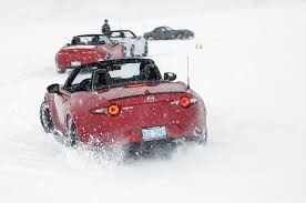 nissan 370z in snow 3 things we learned at mazda u0027s ice academy motor trend