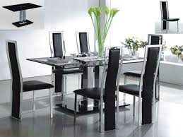 Types Of Dining Room Tables Dining Room Design Enchanting Modern Glass Dining Room Table The