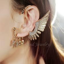 cartilage cuff earrings gold angel wing ear cuff cartilage earrings skull ear cuff for