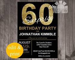 surprise 60th birthday party invitations image collections