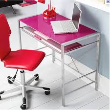 Glass Top Computer Desks by Double Star Furniture Neo Pink Computer Desk Double Star