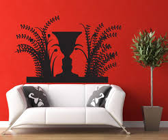 Face Vase Optical Illusion Vinyl Wall Decal Sticker Optical Illusion Vase And Faces Os Dc780