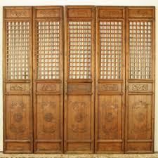 interior cool living room decoration with five panel door wooden