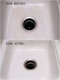 Non Scratch Kitchen Sinks by Best 20 Cleaning Porcelain Sink Ideas On Pinterest Porcelain