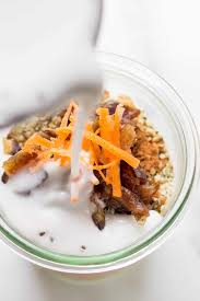 high protein carrot cake chia pudding simply quinoa