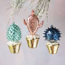 potted cactus ornament glitterville shop