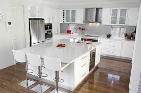 Shiny White Kitchen Cabinets Glossy White Kitchen Colors With Laminate Wood Flooring And Small