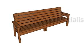 Bench 8 8 Ft Bench Plans Howtospecialist How To Build Step By Step