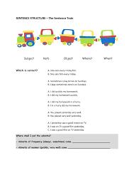 sentence patterns english exercises 101 free word order worksheets