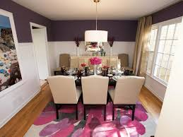 Rooms Viewer HGTV - Purple dining room